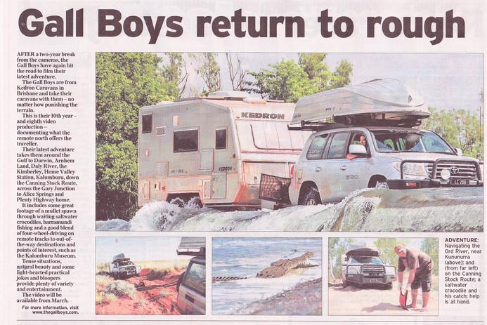 Courier Mail article - Gall Boys KEDRON Caravans