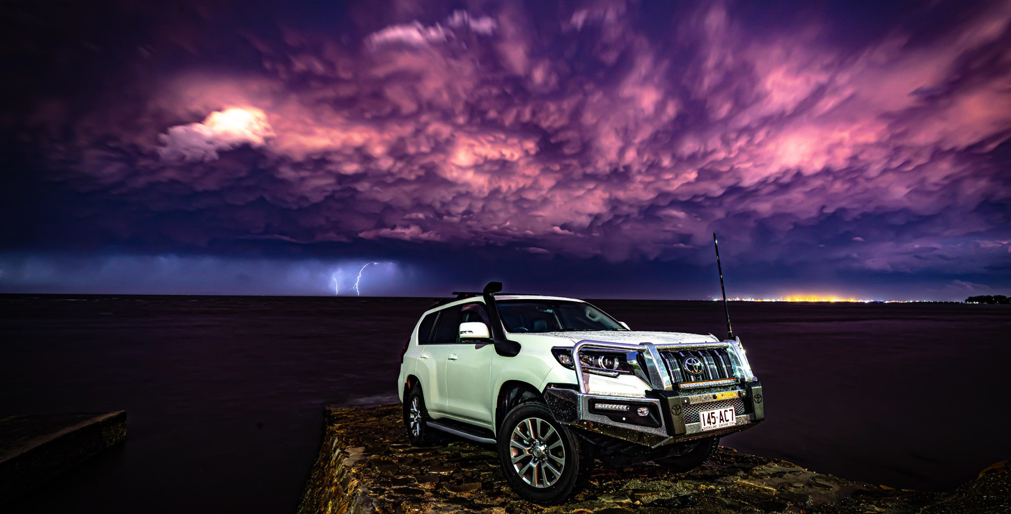 Toyota Prado - Afternoon sunset storm - image Glen Gall ©️