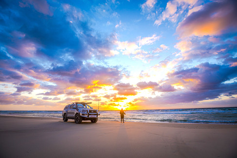 2020 Genuine Accessorised Hilux - Beach fishing, Moreton Island, QLD - Glen Gall©️