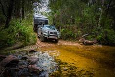 2020 Genuine Accessorised Hilux - towing KEDRON XC5 'SCRUBPAK'® - Creek crossing, QLD - Glen Gall©️