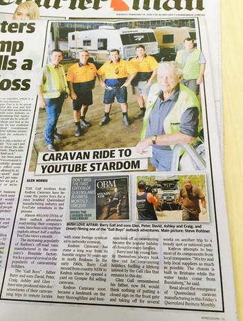 Courier Mail - 24.02.2015 Gall Boys KEDRON Caravans