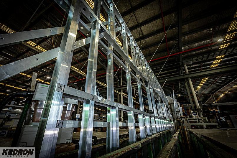 KEDRON Caravans production line - Glen G