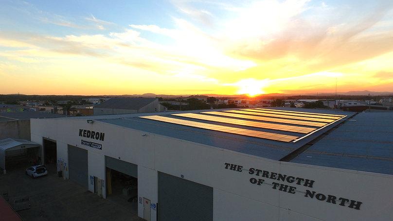 KEDRON factory roof - solar on sunset.JP