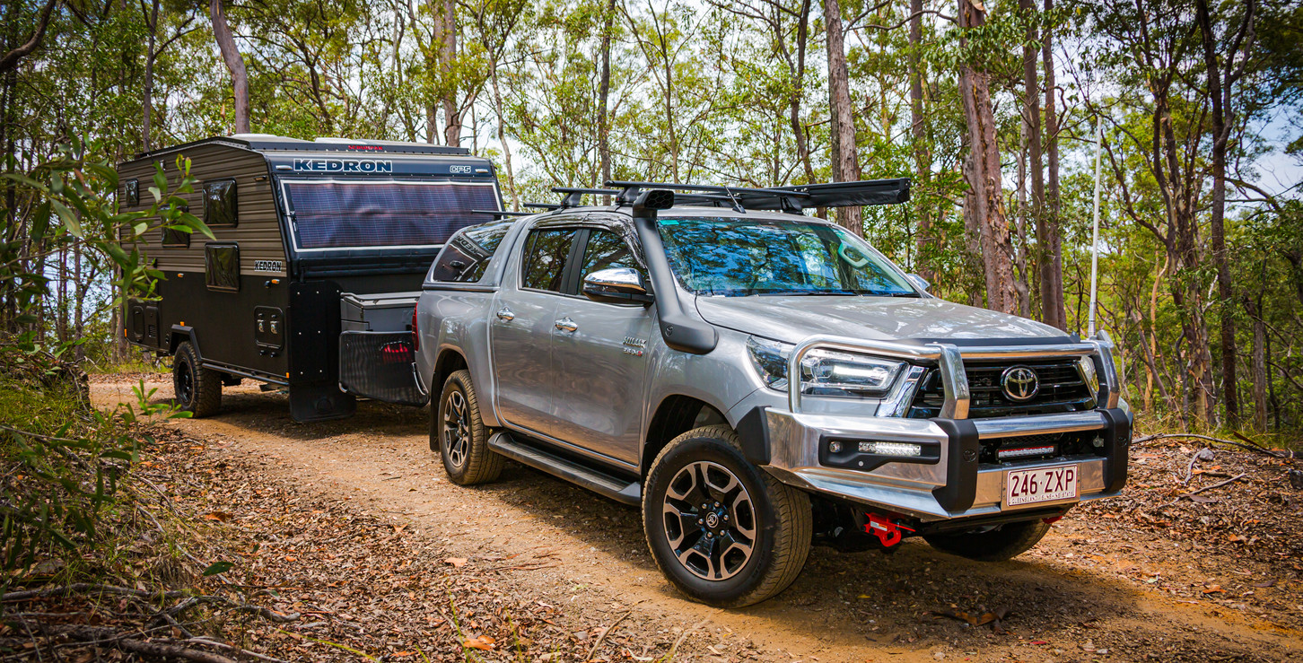 Toyota Hilux towing KEDRON CP5 COMPACT - KEDRON Caravans - image Glen Gall ©️