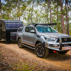Toyota Genuine Accessories - 2020 Hilux with front bar, UHF, LED bar, Racks, Snorkel, Side awning, Canopy with central locking....