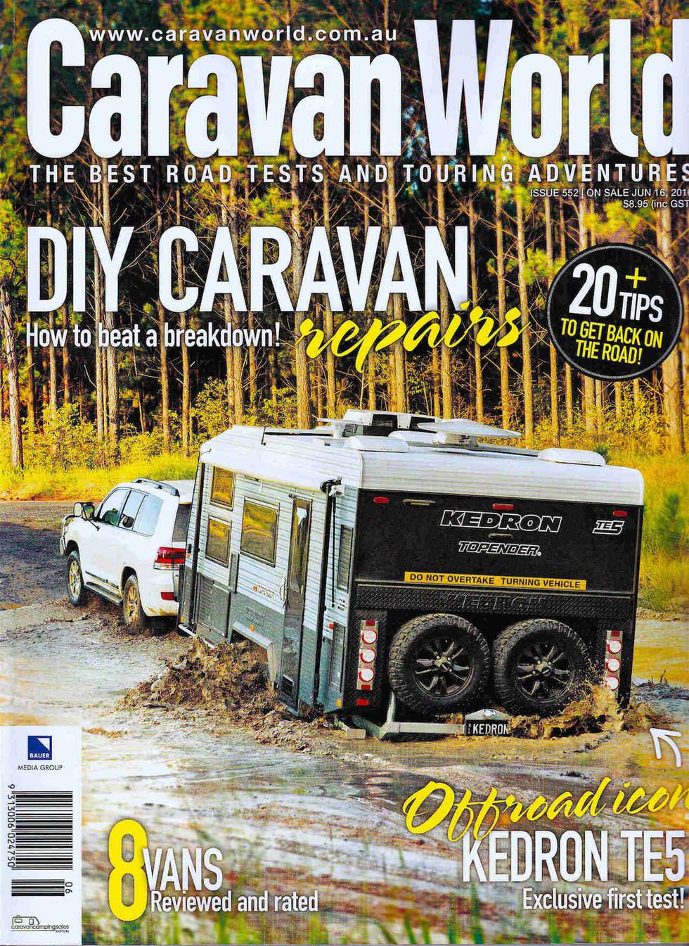 Caravan World July 2016 - KEDRON Caravans - The Gall Boys ©️
