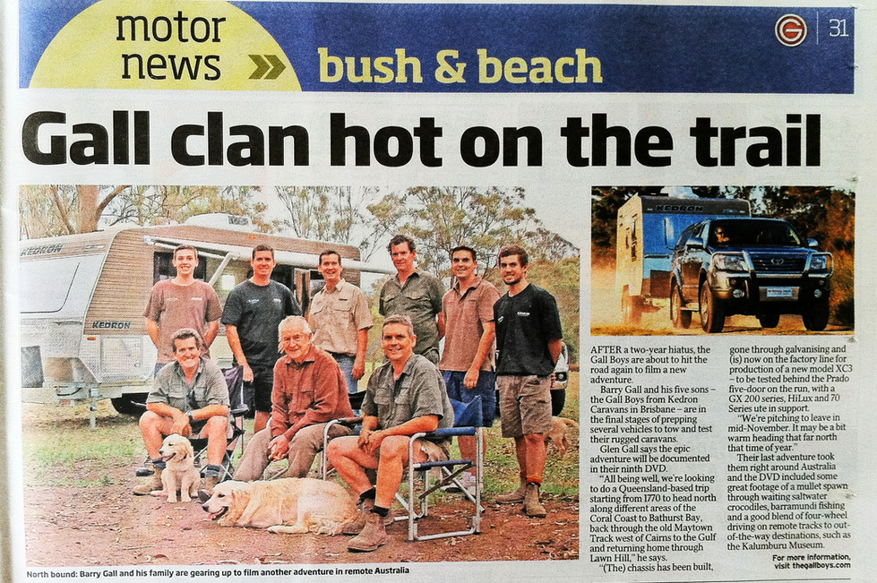 Courier Mail - The Gall clan back on the