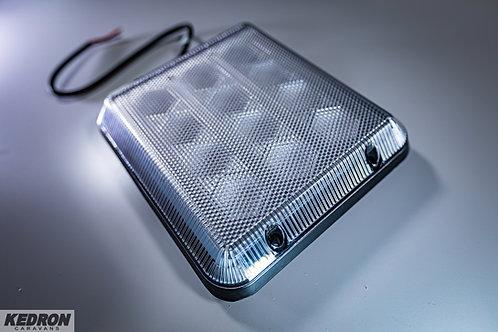 12v LED CARAVAN EXTERIOR ANNEX LIGHT - RETRO FITS SQUARE STYLE HYBRALEC FLOURO