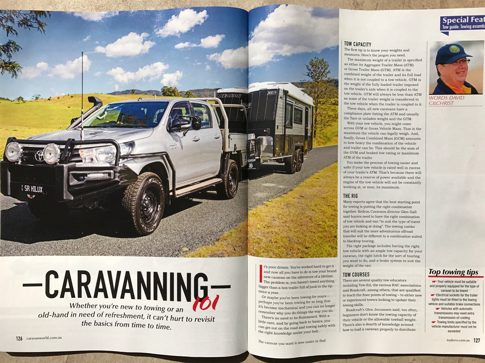 Hilux  - KEDRON Caravan towing tips - The Gall Boys ©️