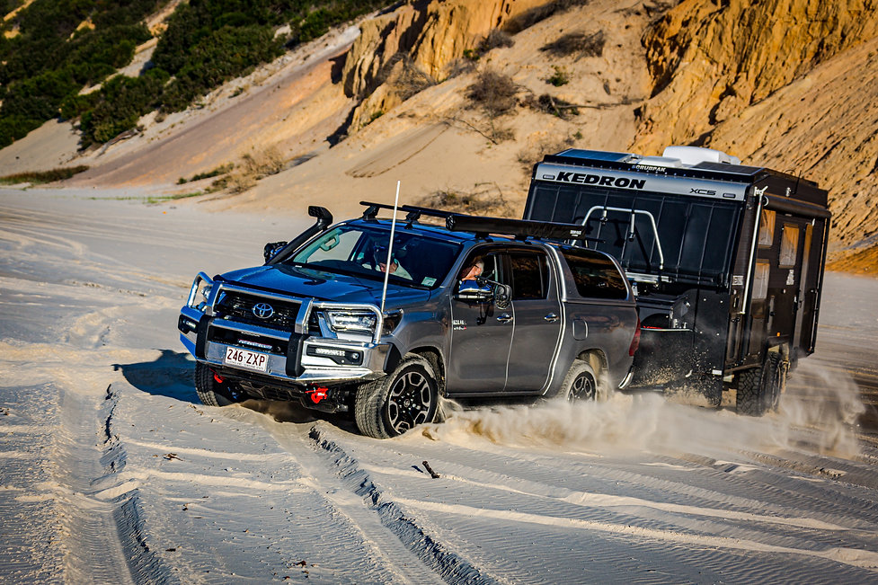 2020 Hilux - Towing images - Glen Gall -