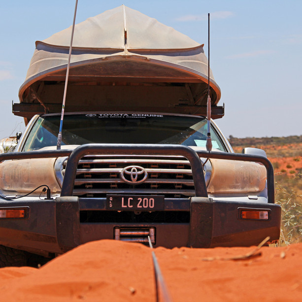 Toyota Genuine Accessories - Testing LC200 front bar & winch on Canning Stock Route
