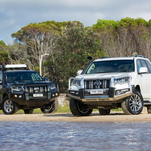 Toyota Genuine Accessories - Prado with front bars and snorkel