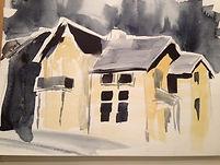 Artist: Oscar Bråne. Yellow Spooky House in Gothenburg.