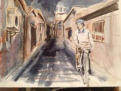 Artist: Oscar Bråne. Riding through the strerets of Gothenburg in despair.