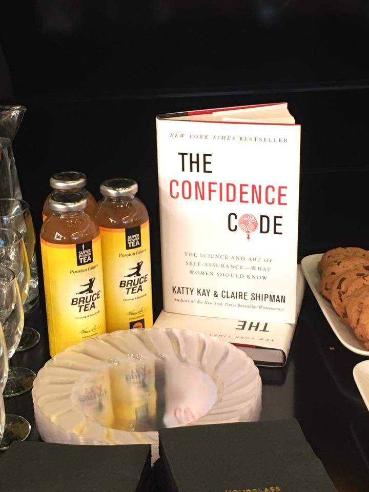 Bruce Tea and our raffle prize, The Confidence Code