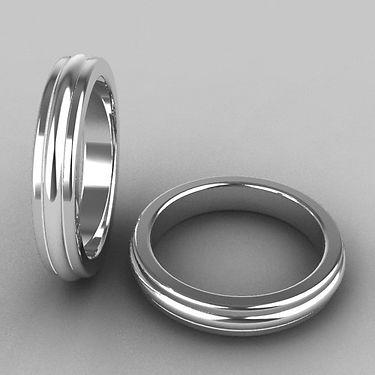 argolla fusion, plata, media caña, acero, argolla bicolor, anillo, matrimonio