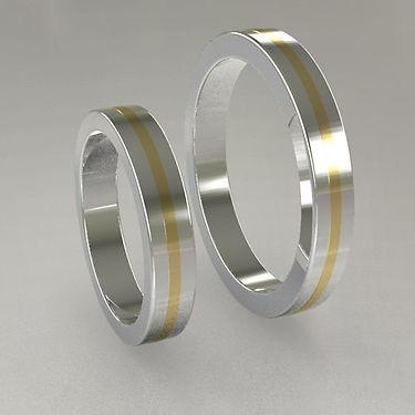 argolla fusion, oro central, acero, oro amarillo, argolla bicolor, 18k, anillo, matrimonio