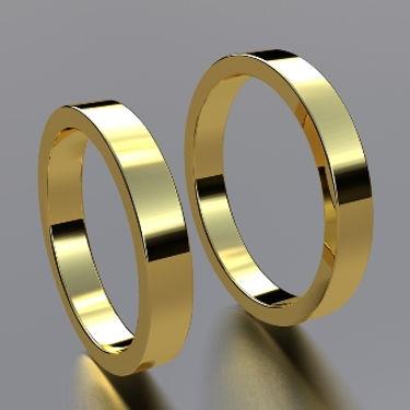 argolla plana, argolla color, oro amarillo, 18k, anillo de matrimonio, anillo