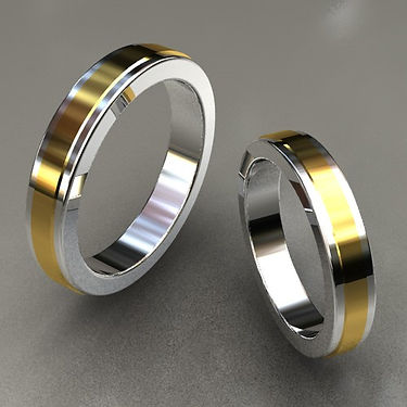 argolla fusión, oro, argolla bicolor, acero, oro amarillo, 18k, anillo, matrimonio, relieve