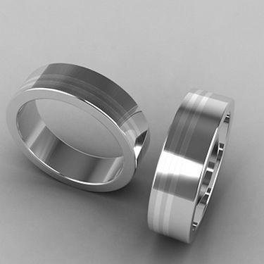 argolla fusion, plata, argolla bicolor, acero, anillo de plata, anillo, matrimonio