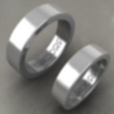Argollas de Matrimonio, argolla plana, argolla color, acero, anillo