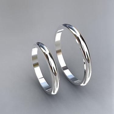 argolla inglesa, oro blanco, 18k, argollas color, anillo de matrimonio