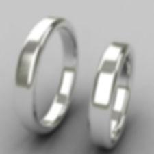 argolla almendra, argolla color, acero, anillo de matrimonio