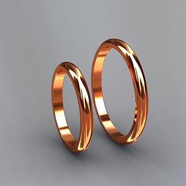 argolla inglesa, argolla color, oro rojo, 18k, anillo de matrimonio