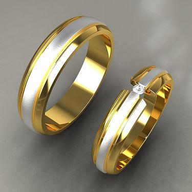 argolla fusion, oro, acero, oro amarillo, 18k, oro blanco, brillantes, especial