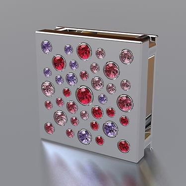colgante, collar, plata, acero, brillantes, rosa, quilates, joyas, historias de color