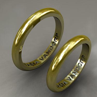 argolla inglesas, oro, oro amarillo, 18k, anillo, grabado, anillo de matrimonio