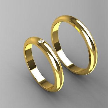 Argollas de Matrimonio, argolla inglesa, oro amarillo 18K, anillo, brillante