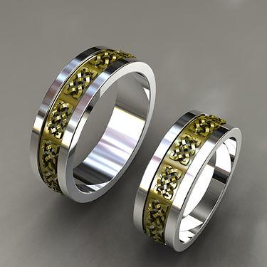 argolla fusion, oro, acero, oro amarillo, 18k, relieve, anillo, anillo de matrimonio