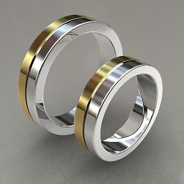 argolla fusion, oro, argolla bicolor, acero, oro amarillo, 18k, anillo, anillo de matrimonio, línea, costado