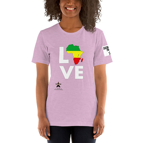 """Pan African Love"" Short-Sleeve Unisex T-Shirt"