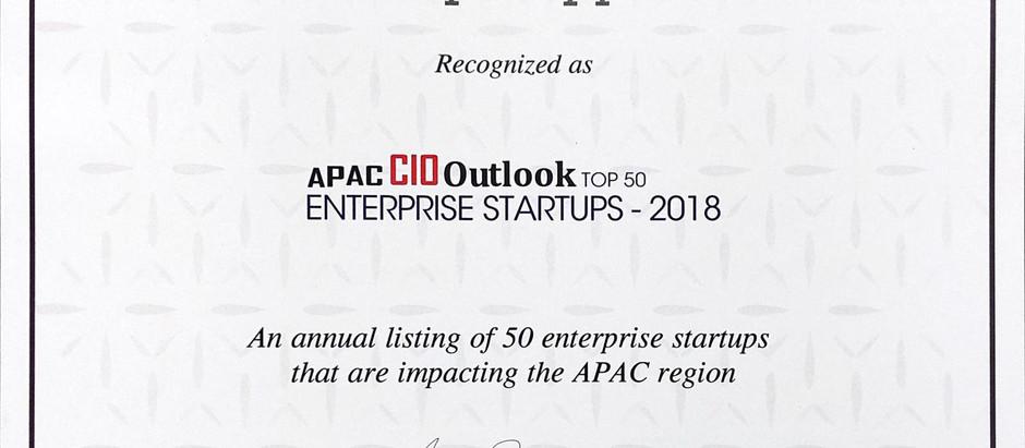 """TipoTapp in APAC CIO Outlook's """"Top 50 Enterprise Startups – 2018"""""""