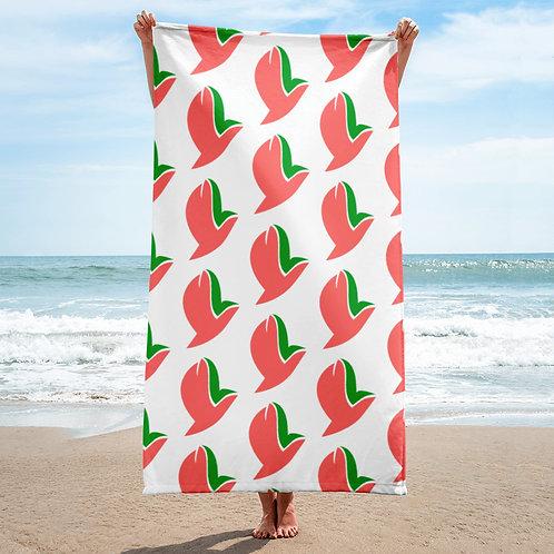Henergy wellness white bathroom & beach towel