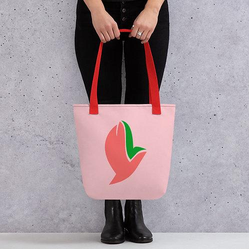 Henergy Positive Energy pink tote bag