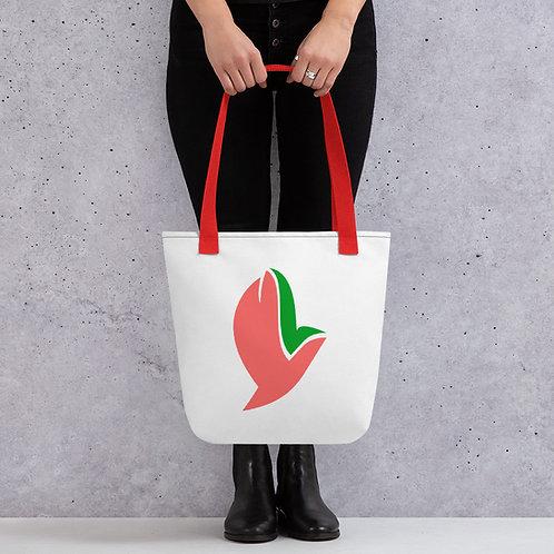 Henergy Whimsical White tote bag