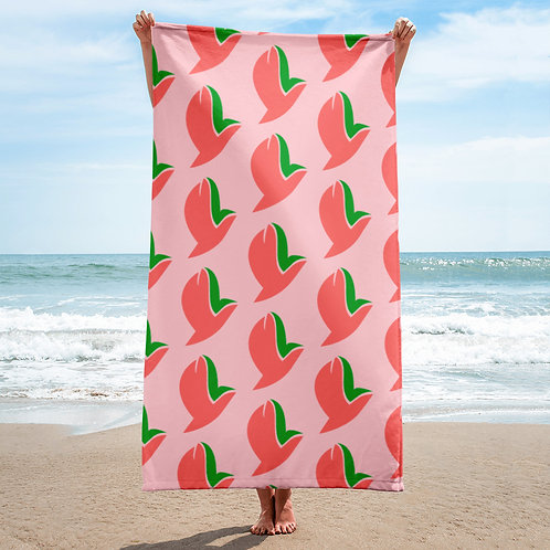 Henergy positively pink bathroom & beach towel