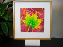 Original painting, silk painting, batik, watercolour, autumn leaves, wall painting, wall decor, Tati
