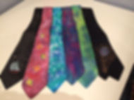 Hand painted silk ties, Tatiana Young Si