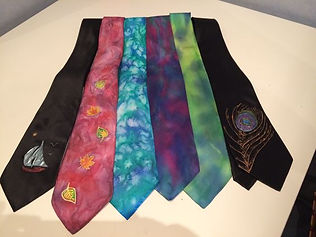 Hand painted silk ties, Tatiana Young Si