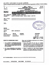 example of business registration for the wechat application