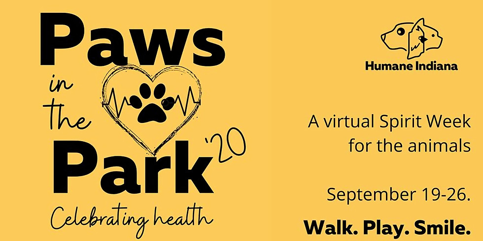 Paws in the Park 2020 Virtual Walk