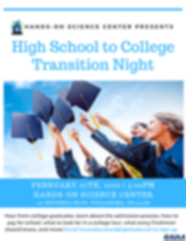 High School to College Transition Night