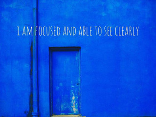 I Am Focused and Able to See Clearly with Indigo Element