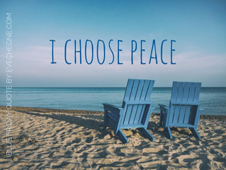 I Choose Peace with Blue Element