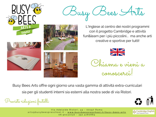BUSY BEES ARTS - Progetto 2021/2022