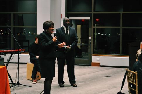 Mayor Toni Harp and Executive Director Aaron Haley